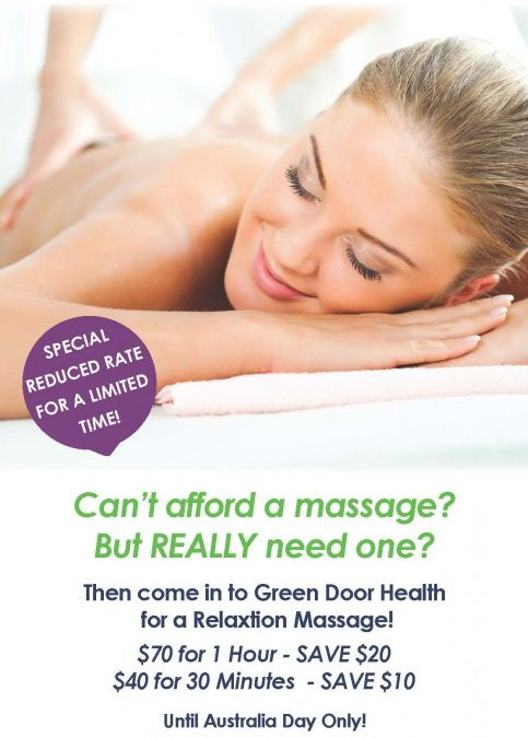 Need a massage but can't afford one?