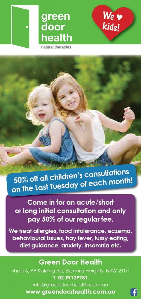 childrens health day consults 50% off